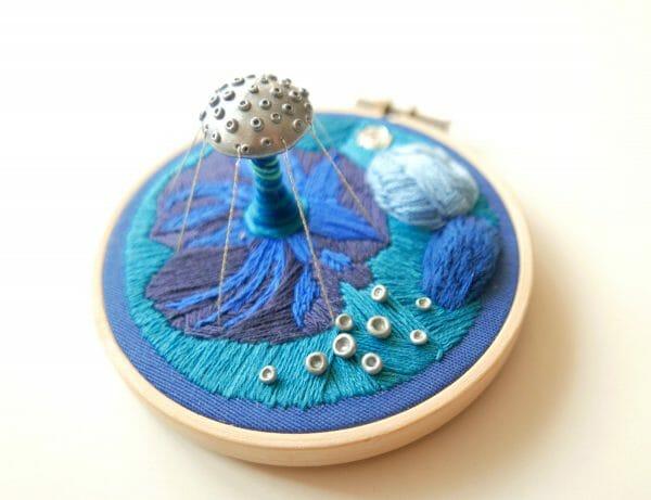 Nibyniebo - Embroidery navy 3