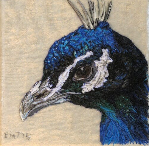 Emily Tull - Peacock - Hand Embroidery