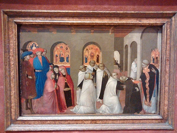 Sassetta's Miracle of the Eucharist at the Bowes Museum and the inspiration for the Hand & Lock Prize entry - photo by Suzanne Treacy