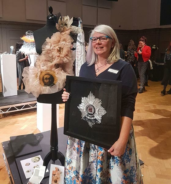 With the Hand & Lock entry and my winning plaque - Photo by Tom Powell