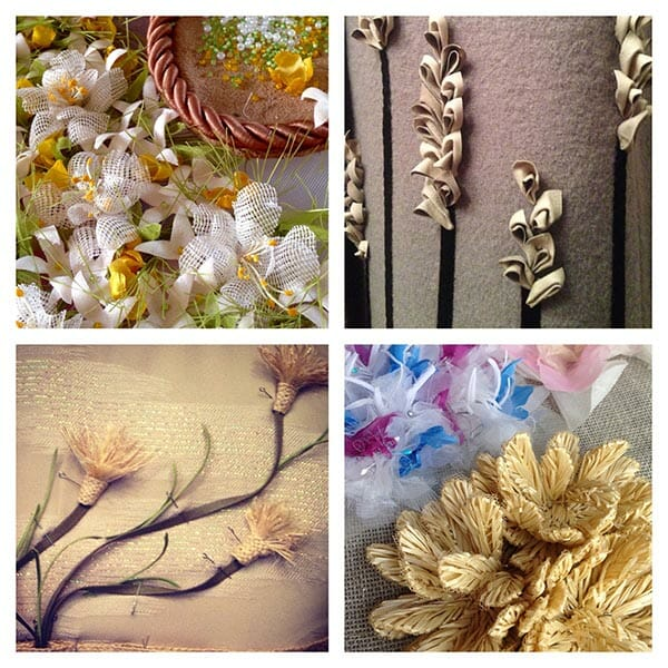 Elena's embroidered flowers