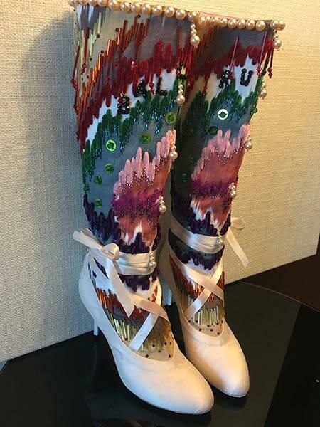 Embroidered legware, Elena Savelyeva