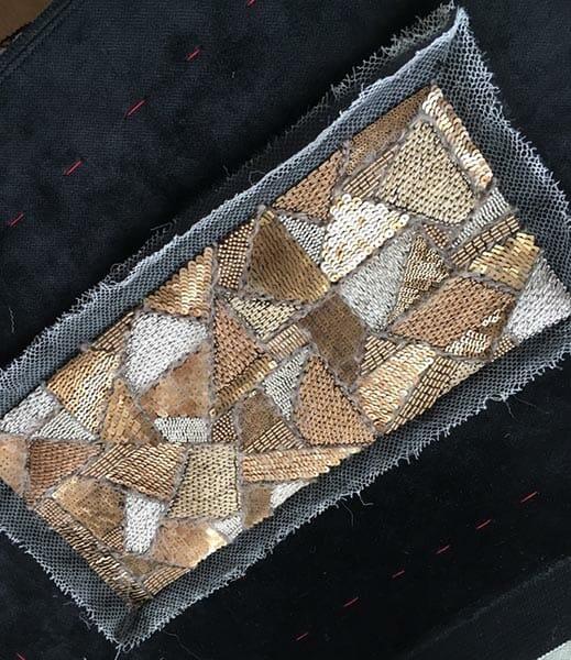 Sequins and embroidery, Elena Savelyeva