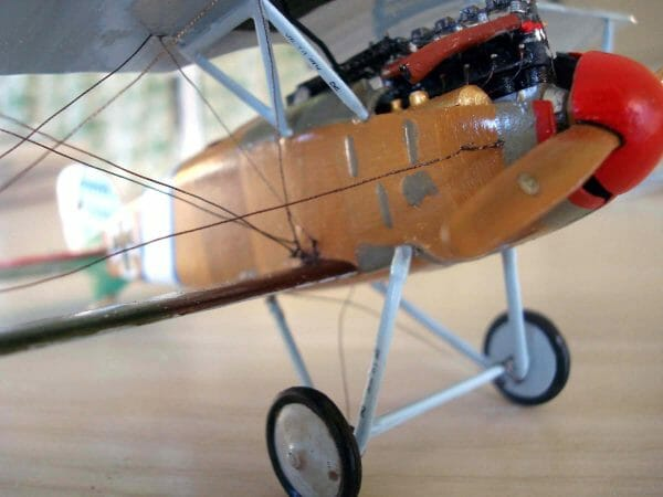 Yes that's Kreinik Cord as the rigging on this model airplane.