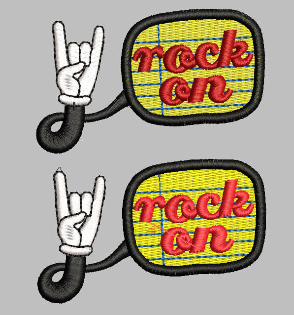 Design Color Reinterpreted - Rock on Hand Machine Embroidery Design by Erich Campbell