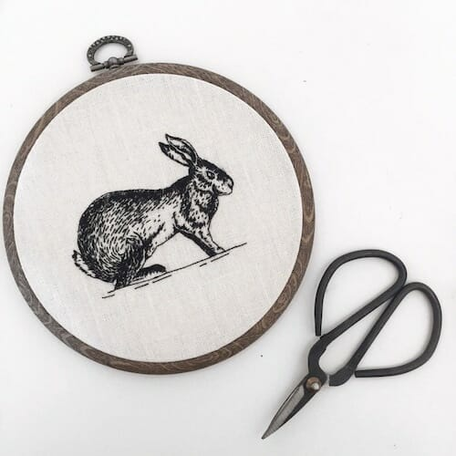 Tiny Hand Embroidery - Hare Embroidery Hoop