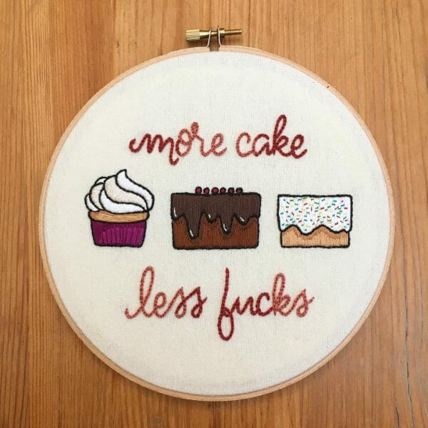"""Sarah Beth Timmons' """"Words To Live By"""" Hand Embroidery"""