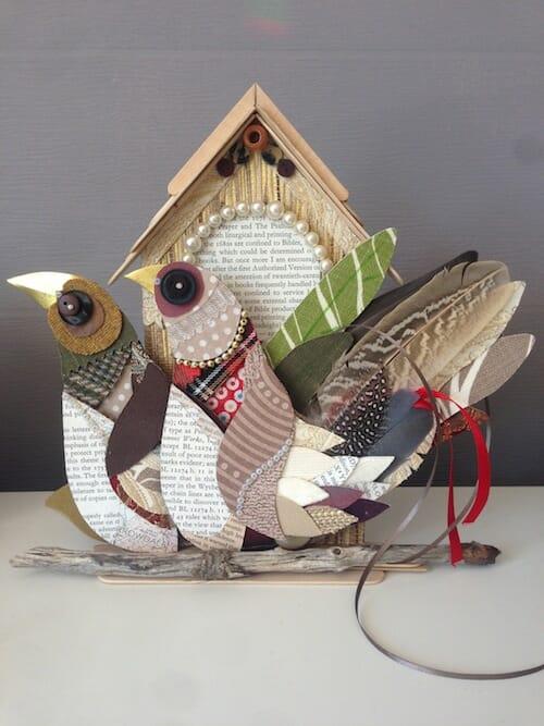 Thrift Design - Birds on House