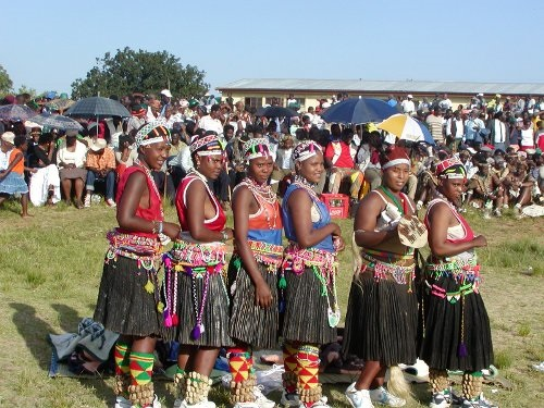 Zulu Bridesmaids in Traditional Attire