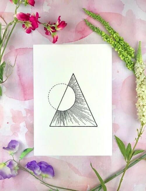 Pulp Stitchin' - Geometric Sun Embroidery