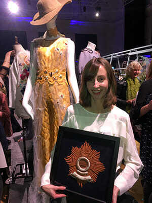 Hannah Mansfield, Hand & Lock Prize for Embroidery 3rd-place Winner, Fashion Open Category
