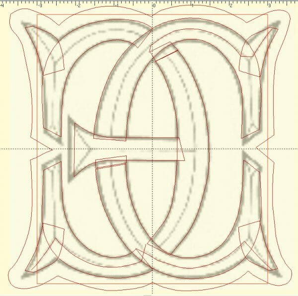 Vector Lines for Digitized Monogram