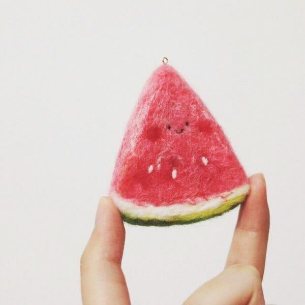 mochi9111's felted watermelon