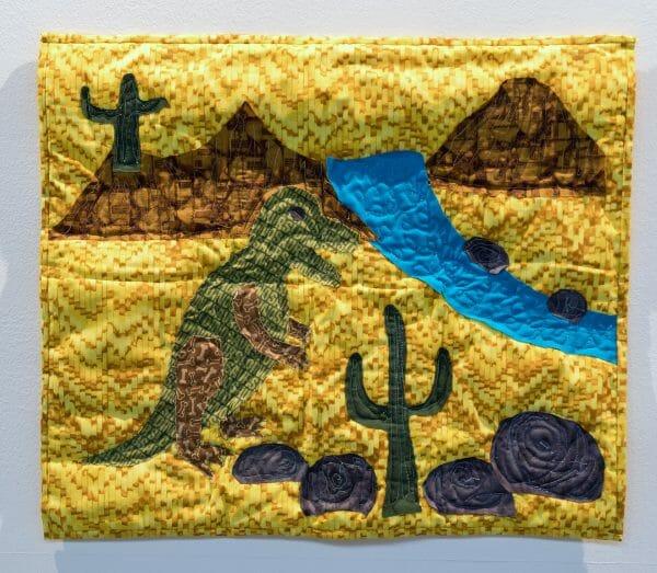Basile Tharel - The Desert Dinosaur - Quilt