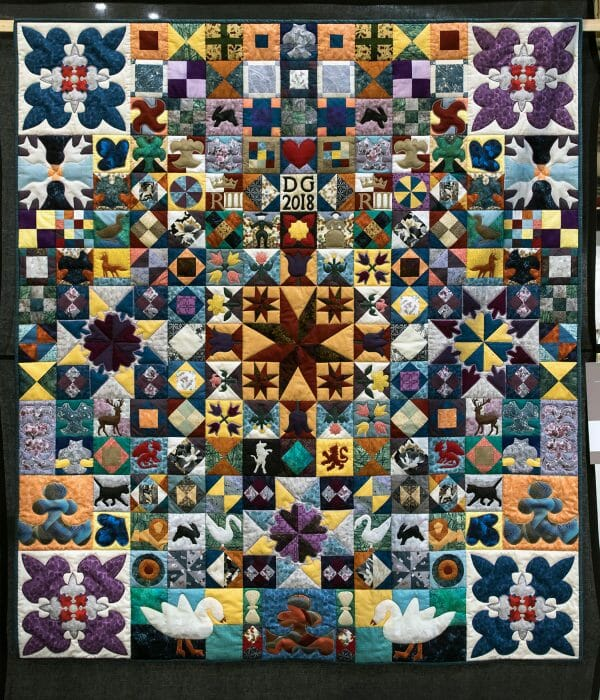 Denise Geach - Leicestershire 1718 - quilt