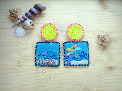 Barney Laflaque - Shellfish Earrings