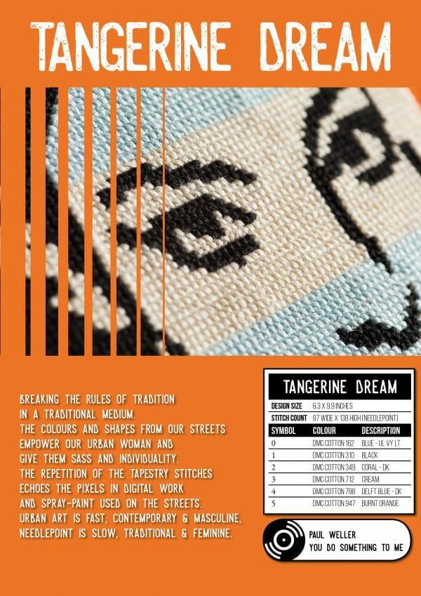 Niki McDonald's Tangerine Dream Cross Stitch Pattern from XStitch Magazine Issue 1