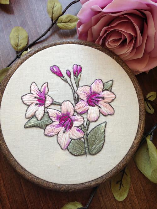 Pengelly Crafts - Pink Floral Hoop