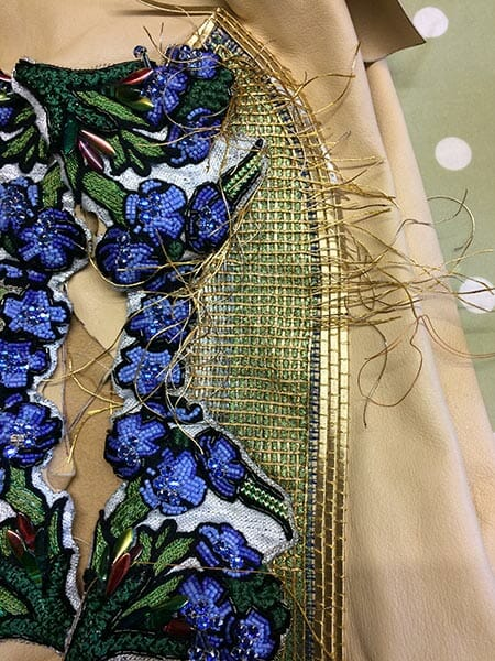 Embroidery detail 4, Ami Waring