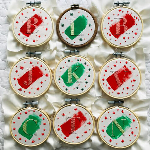 Modern Floss - Christmas Decoration Hoops