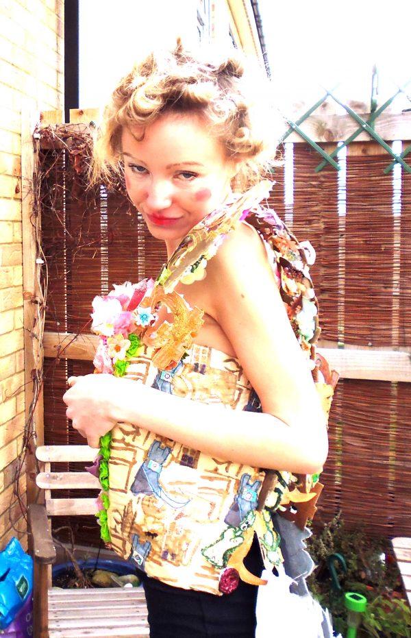bonded textiles wearable art piece AH