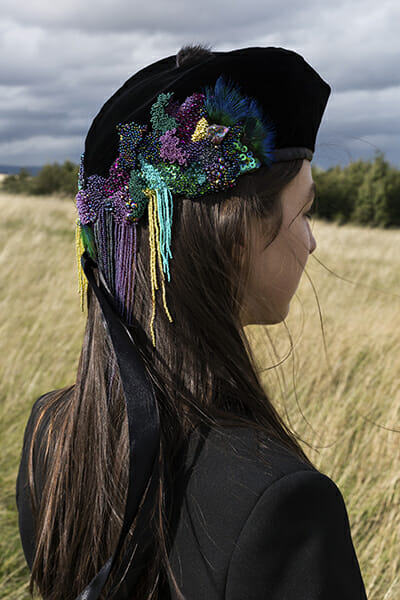 7 - The work of embroidery artist Emma Wilkinson. Photography: Nina Shahroozi; Model: Brooke Mills