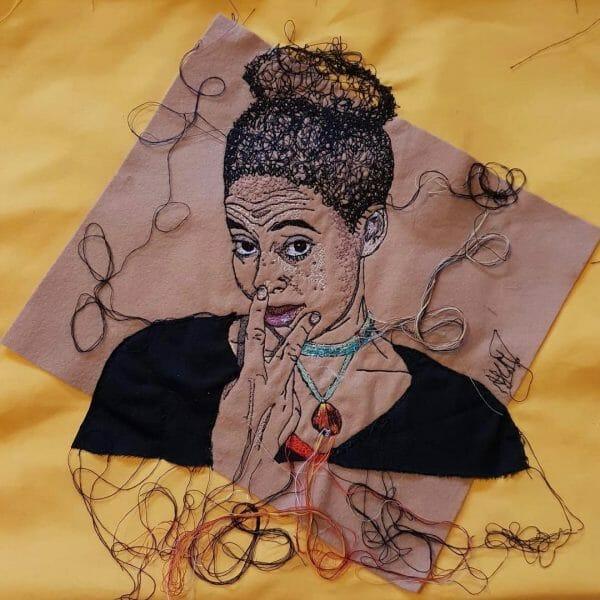 Alison Carpenter-Hughes - Lou - Free Machine Embroidery
