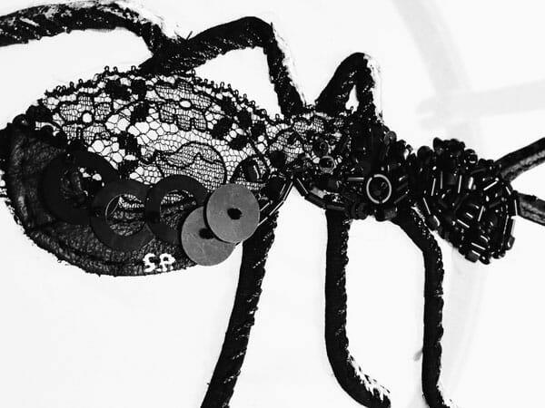 Ant embroidery, by Silvia Perramon Rubio