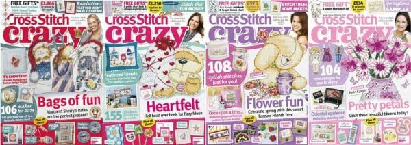 Cross Stitch Crazy covers for January to April 2014