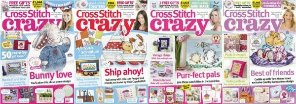 Cross Stitch Crazy covers for May to August 2014