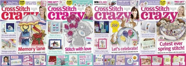 Cross Stitch Crazy covers for January to April 2015
