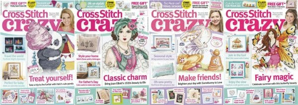 Cross Stitch Crazy covers for May to August 2015