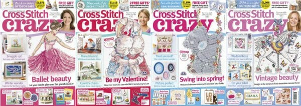 Cross Stitch Crazy covers for January to April 2016