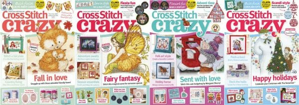 Cross Stitch Crazy covers for September to December 2018