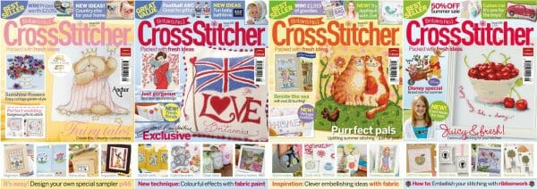 CrossStitcher Magazine covers for May to August 2010