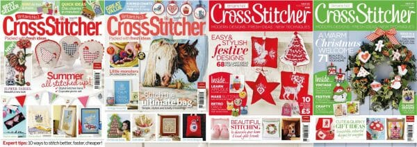 CrossStitcher Magazine covers for September to December 2010