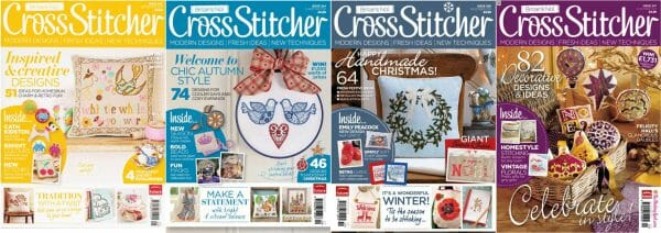 CrossStitcher Magazine covers for September to December 2011