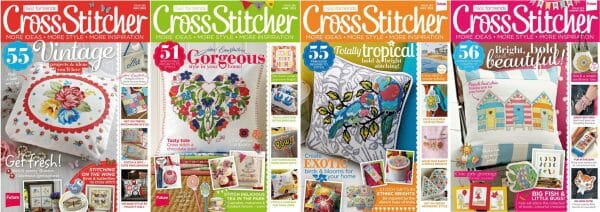 CrossStitcher Magazine covers for May to August 2013