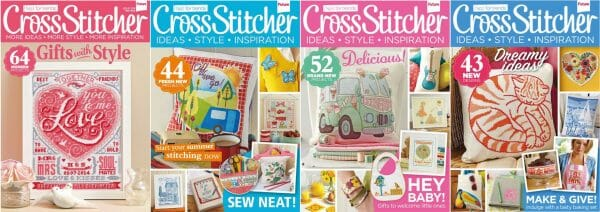 CrossStitcher Magazine covers for May to August 2014