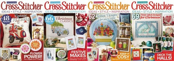 CrossStitcher Magazine covers for September to December 2015