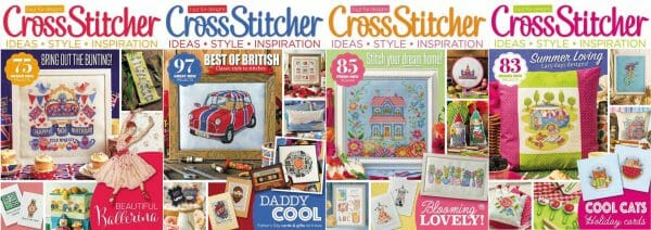CrossStitcher Magazine covers for May to August 2016