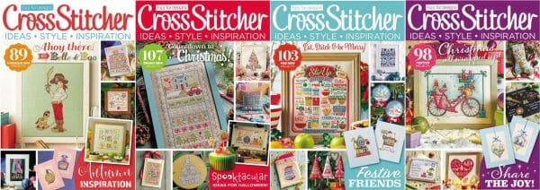 CrossStitcher Magazine covers for September to December 2016