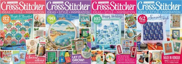 CrossStitcher Magazine covers for May to August 2017
