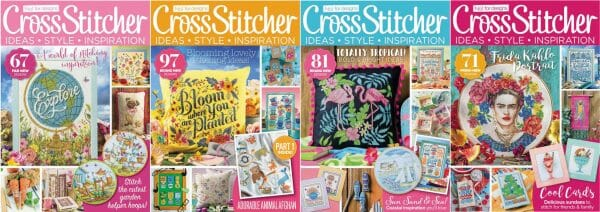 CrossStitcher Magazine covers for May to August 2018