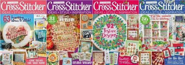 CrossStitcher Magazine covers for September to December 2018
