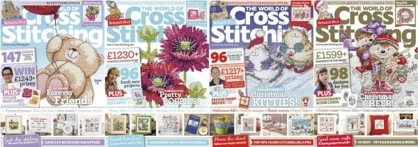 The World of Cross Stitching covers for September to December 2014