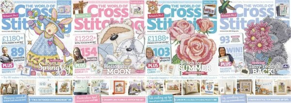 The World of Cross Stitching covers for May to August 2015