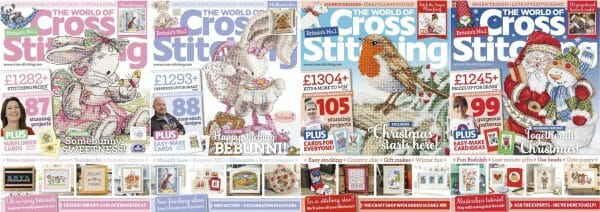 The World of Cross Stitching covers for September to December 2015