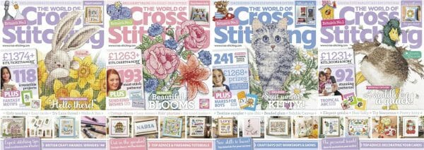 The World of Cross Stitching covers for May to August 2016