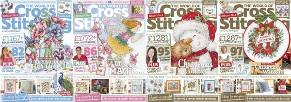 The World of Cross Stitching covers for September to December 2016